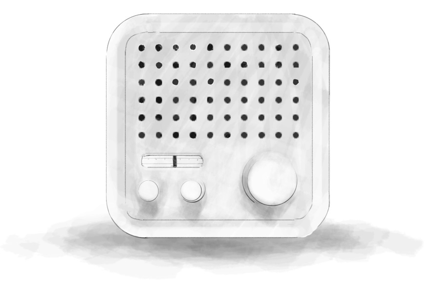 Radio inspired by Dieter Rams
