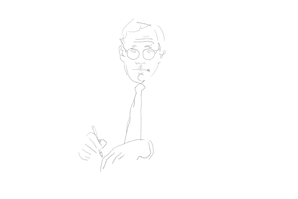 Simplistic sketch of Dieter Rams